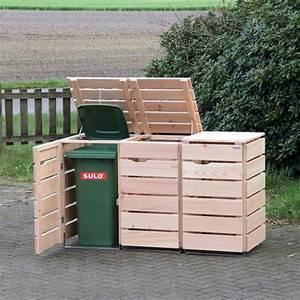 Mülltonnenverkleidung Aus Paletten : 3er m lltonnenbox holz douglasie natur ideen ~ A.2002-acura-tl-radio.info Haus und Dekorationen