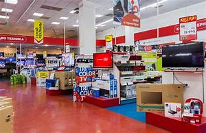 Interior Of The Electronics Shop M-Video Editorial Stock ...