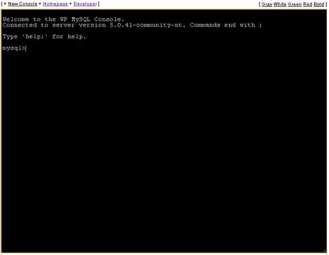 Wp Mysql Console Plugin