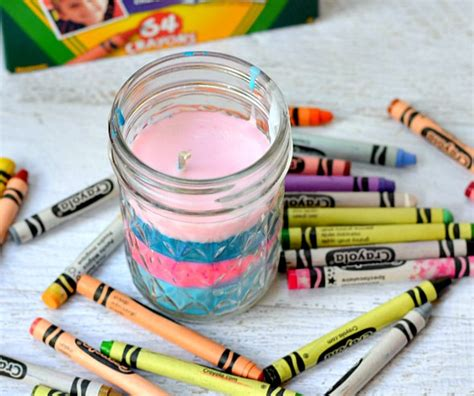 image of candle wall 14 things to with crayons and crafters