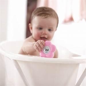 Thermometre bébé de bain et chambre rose de Avent philips