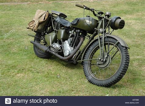 Vintage Army Motorcycle Stock Photos & Vintage Army