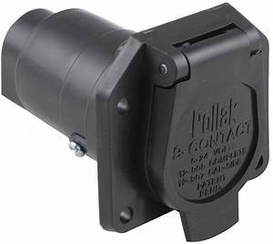 Pollak 9-pole  Round Pin Trailer Socket