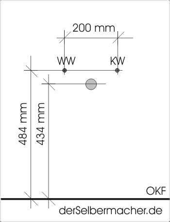 Fliesenspiegel Oberkante by Fliesenspiegel K 252 Che H 246 He Wasseranschluss Waschbecken