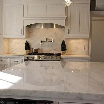 Danby Marble Countertops by White And Brown Kitchen With Coffered Ceiling