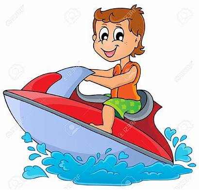 Water Clipart Sport Vector Boat Theme Transportation