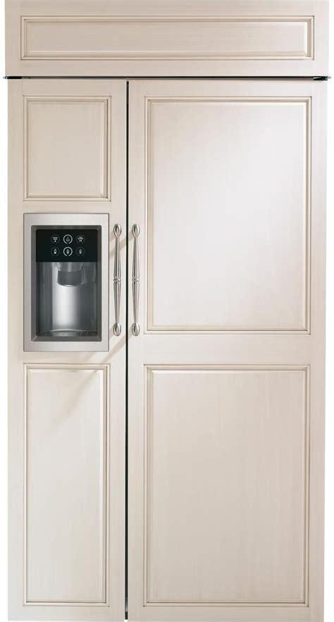 zisbdnii monogram  built  counter depth side  side refrigerator  led lighting