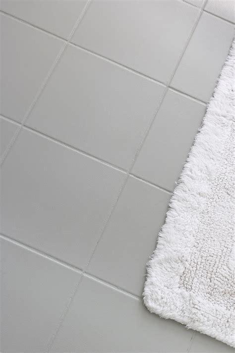 ceramic tile paint how i painted our bathroom s ceramic tile floors a simple