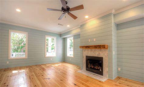 living room with heart pine flooring, Not Shiplap/ Nickel