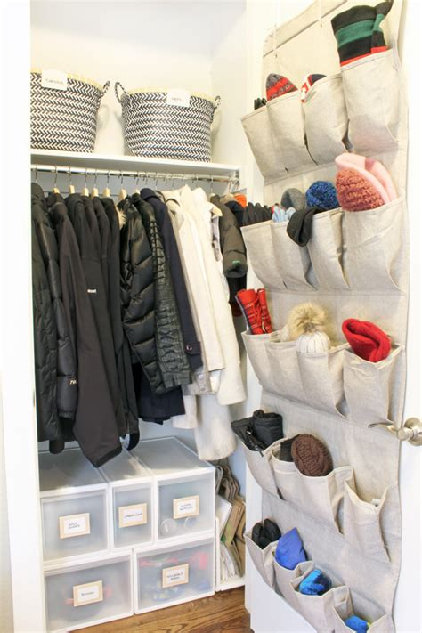 Small Coat Closet Storage Solutions  Blue I Style
