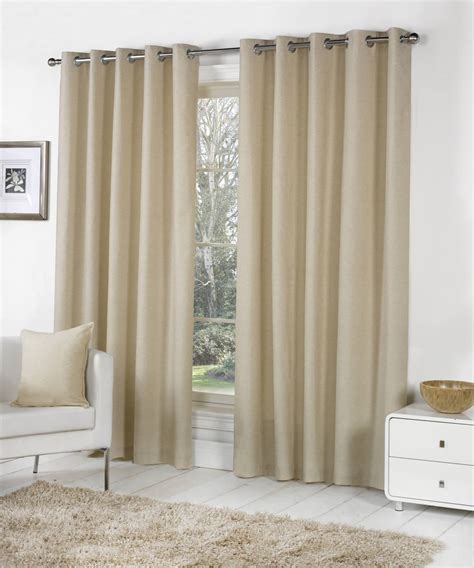 sorbonne lined eyelet curtains 100 cotton ready made ring