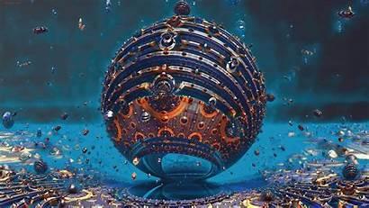 4k 3d Fractal Sphere Wallpapers Backgrounds