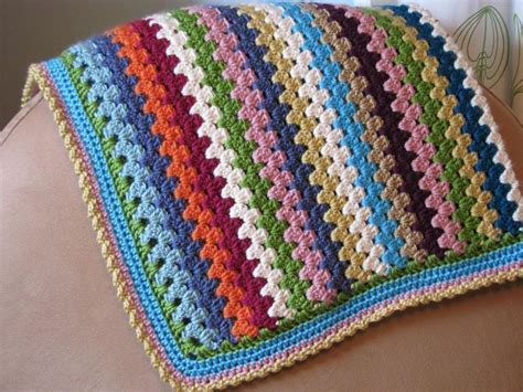 Free Crochet Granny Stripe Baby Blanket Pattern. Great Idea To Use Up My Leftover Balls Of Yarn Hand Embroidered Baby Blanket Kits Crochet Patterns Fluffy Yarn Personalised Blankets Nz Oak Box Antique Does Emergency Work Giant Merino Wool South Africa Cabbage Pigs In The Recipe