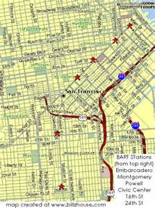 San Francisco Bart Stations Map