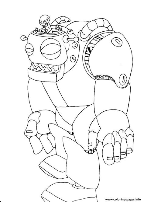 zombot plants  zombies coloring pages printable