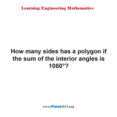 How Many Angles Are On The Interior Of An Octagon by Solution How Many Sides Has A Polygon