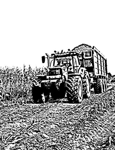 Kleurplaat Tractor Met Ploeg by Kleurplaten Tractor Fendt