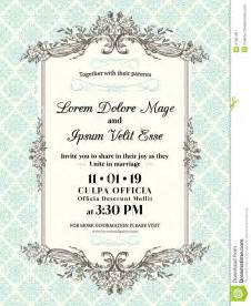 shaadi invitations vintage wedding invitation border and frame stock vector