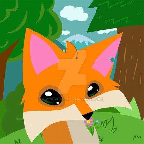 animal jam fox  vinewolf  deviantart