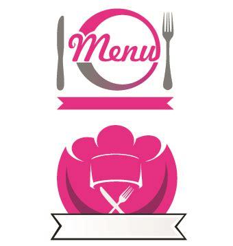 restaurant logos with menu illustration vector 03