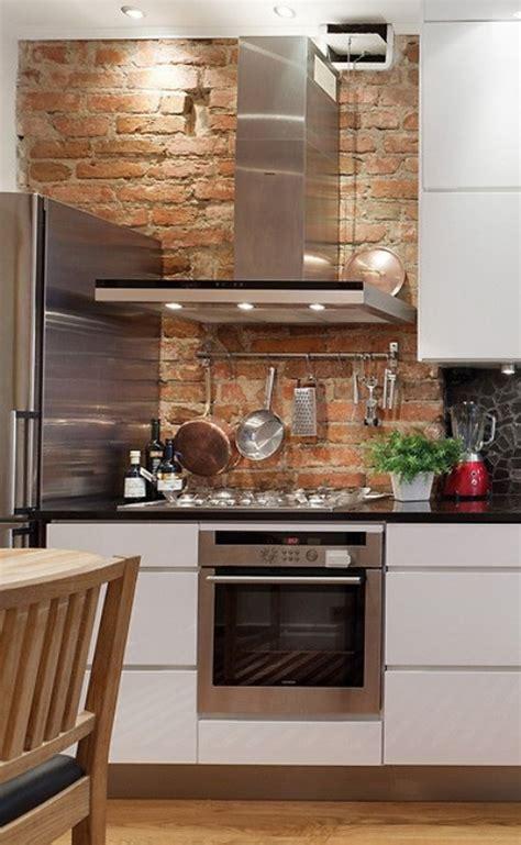 chimney in kitchen design small kitchen design with bricks wall and kitchen chimney 5394