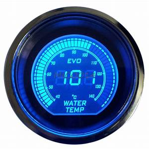 Car Blue U0026red 52mm Digital Led Evo Water Temperature Temp