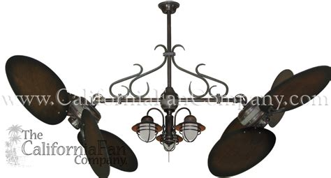 twin star ii ceiling fan twin star ii double ceiling fan with 50 inch distressed