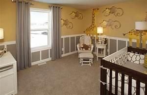 Chambre Bebe Jaune : chambre bebe peinture murale couleur jaune beige deco singe girafe peinture murale 107 ~ Nature-et-papiers.com Idées de Décoration