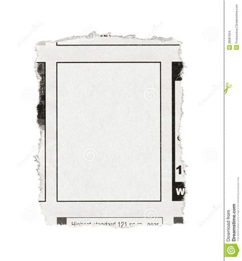 Blank Advertisement From Newspaper Stock Images Image