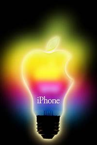 Rainbow Apple Light #iPhone 4s #Wallpaper | http://www ...