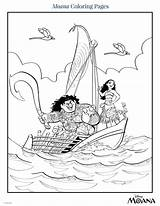 Moana Coloring Pages Disney Pdf Paper Activity Colored sketch template
