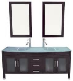 63 quot grand regent large double sink modern bathroom vanity
