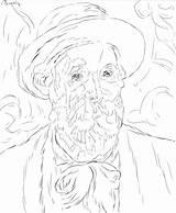 Renoir Autoritratto Kolorowanki Druku Supercoloring sketch template