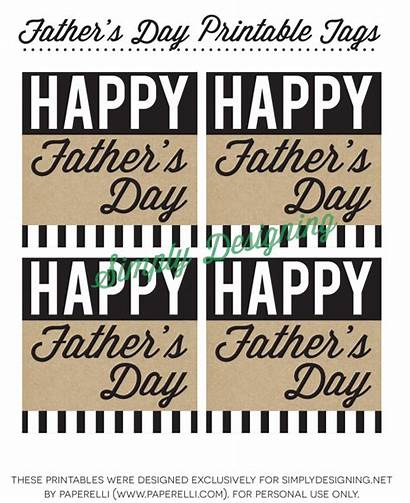 Printable Gift Father Fathers Happy Tags Printables