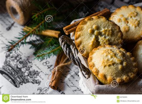 Mince Pies And Christmas Tree. Royalty-free Stock Photo