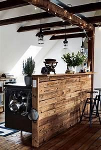 Bar De Salon Moderne : la poutre en bois dans 50 photos magnifiques ~ Teatrodelosmanantiales.com Idées de Décoration