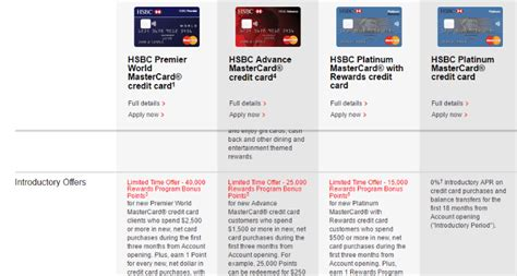 Increased Sign Up Bonuses On Hsbc Credit Cards (up To