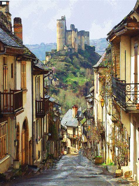 Najac Castle On Aveyron France Architecture French