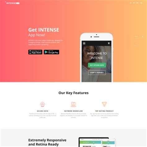 landing page template landing page templates responsive landing pages