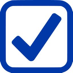 royal azure blue checked checkbox icon free royal azure