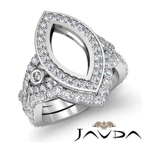 marquise diamond engagement ring bridal sets platinum 950 mount 2 8ct ebay
