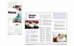 bakery cupcake shop menu template design With microsoft publisher menu template