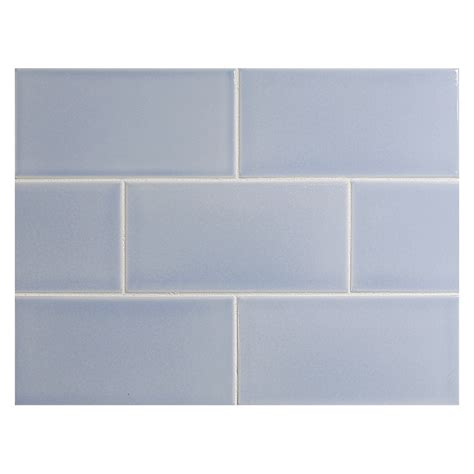 vermeere ceramic tile azure gloss 3 quot x 6 quot subway tile