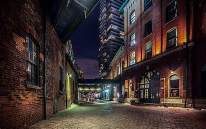 Night Building Window Toronto 4k Bricks Door