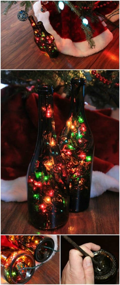festively easy wine bottle crafts  holiday home