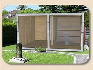 Gartenhaus Mit Glasfront : saunahaus modern mit trespa hpl und glasfront ~ Sanjose-hotels-ca.com Haus und Dekorationen