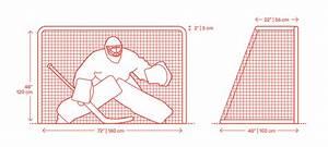 Ice Hockey Goals Dimensions  U0026 Drawings