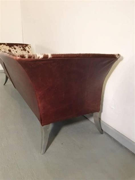 Cowhide Sofa Sale by One Of A Sofa In Cowhide For Sale At 1stdibs