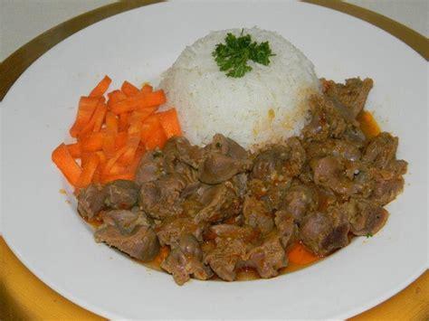 recettes de cuisine recette de cuisine mijot 233 de gesiers de volaille