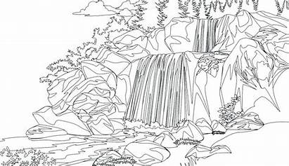 Coloring Pages Waterfall Printable